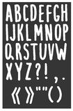 Hand drawn alphabet Royalty Free Stock Images