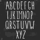 Hand drawn alphabet. Vector hand drawn alphabet, on gray background Stock Photo