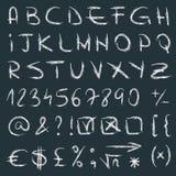 Hand drawn alphabet vector Stock Photo