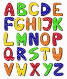 Hand drawn alphabet. Vector illustration of hand drawn alphabet Stock Photography