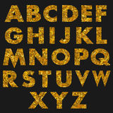 Hand drawn alphabet. Vector illustration. Brush painted letters Stock Photos