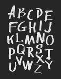 Hand drawn alphabet. Vector illustration. Stock Photography