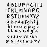 Hand drawn alphabet vector set Stock Photography
