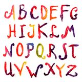 Hand Drawn Alphabet Stock Images