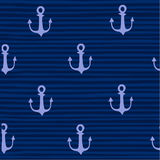 Hand drawn anchor on strips background Stock Image