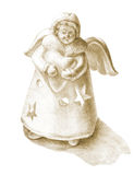 Hand drawn angel figurine Royalty Free Stock Photography