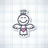 Hand drawn angel Royalty Free Stock Photos