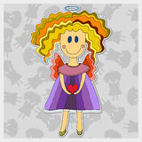 Hand drawn angel with heart Royalty Free Stock Photos