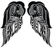 Hand drawn angel wings Royalty Free Stock Photo