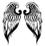 Hand drawn angel wings Stock Photo
