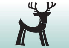 Hand drawn animal deer Stock Photography