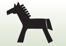 Hand drawn animal horse Royalty Free Stock Photos