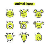 Hand drawn animal illustration -  icons Stock Images