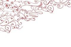 Hand drawn aquarelle floral corner decoration Stock Images