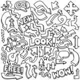 Hand-drawn Arrow Doodles Stock Photos