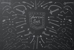 Hand drawn arrow set Stock Photo