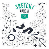 Hand drawn  arrow set. Royalty Free Stock Photography