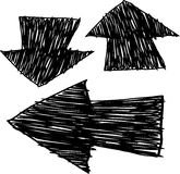 Hand drawn arrows Stock Photography