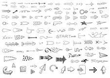 Hand drawn arrows Stock Photo