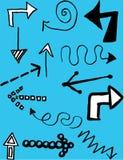 Hand-drawn Arrows Royalty Free Stock Photo