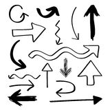Hand Drawn Arrows Stock Image