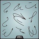 Hand Drawn Arrows Design. Vector Elements. Digital Isolated Creative Arrows Illustration. EPS10 Stock Photo