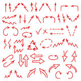 Hand drawn arrows icons set isolated on white. Background. Business charts, graphs, infographics. Vector illustration royalty free illustration