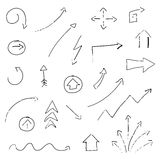 Hand-drawn Arrows Royalty Free Stock Photos