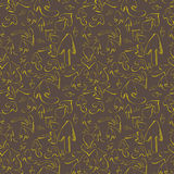 Hand drawn arrows. Seamless pattern Royalty Free Stock Photography