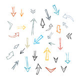 Hand Drawn Arrows Set Stock Photos