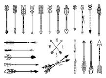 Hand drawn arrows set Stock Photos
