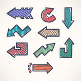 Hand-drawn arrows Stock Images