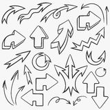 Hand drawn arrows set Stock Image