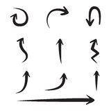 Hand drawn arrows set. Drawing elements set. Vector illustration Royalty Free Stock Images