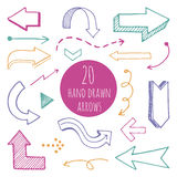 Hand drawn arrows set for presentation. Vector Stock Photography