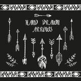 Hand drawn arrows set. Vector illustration Royalty Free Stock Photos