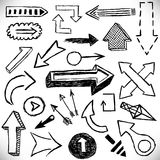Hand drawn arrows set. Royalty Free Stock Photo