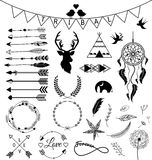 Hand drawn arrows Tribal designs Royalty Free Stock Photography