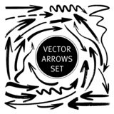 Hand drawn vector arrows set royalty free illustration