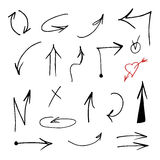 Hand drawn Arrows vector set Royalty Free Stock Photography