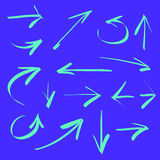 Hand drawn arrows. Royalty Free Stock Images