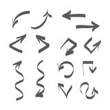 Hand drawn arrows vector set icon illustration Stock Photos