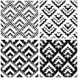 Hand drawn art deco painted seamless pattern. Stock Photos