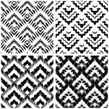Hand drawn art deco painted seamless pattern Stock Photography