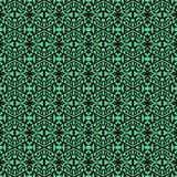 Hand drawn art deco pattern with thick black lines. Hand drawn art deco seamless pattern with thick black lines and emerald green color. Texture for web, print Stock Images