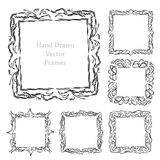 Hand drawn art frames Royalty Free Stock Photo