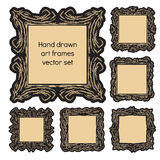 Hand drawn art frames Stock Images