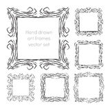 Hand drawn art frames Stock Photo