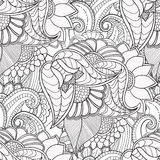 Hand drawn artistic ethnic ornamental patterned floral frame  Stock Images