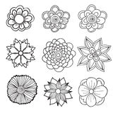 Hand drawn artistic ethnic ornamental patterned floral frame in Stock Photo